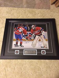 PK Subban Carey Price signed framed 16 x 20 photo Canadiens