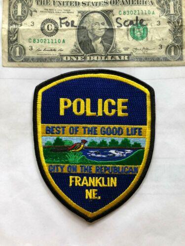 Franklin Nebraska Police Patch Un-sewn in great shape