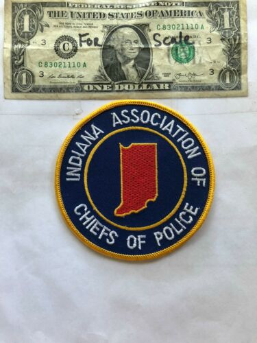 Rare Indiana Association of Police Chiefs Patch Un-sewn great shape