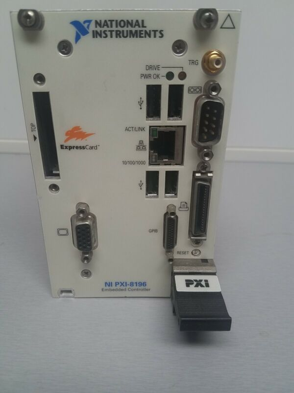 National Instruments NI PXI-8196 2.0 GHz Pentium M760 Embedded Controller TESTED
