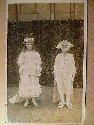 Postcard- Vintage Fashionable Young CHILDREN'S Photographic Postcard
