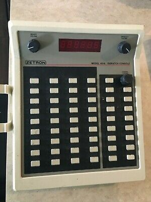 Zetron 4016 Dispatch Console Communication Used