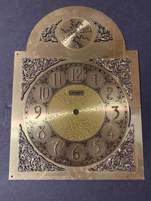 """VTG NOS Grandfather Clock Tempus Fugit Face Dial Hamilton 13 3/4"""" x 9 3/4"""""""