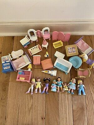 Fisher Price Loving Family Lot Ballerinas Furniture Horse People(8) Clean