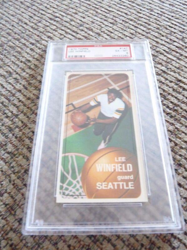 Lee Winfield 1970 Topps Tall Boy #147 Basketball Card PSA Graded Slabbed EX-MT 6