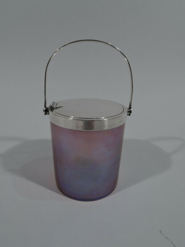 Tiffany Jam Pot - 15111 - Antique - American Sterling Silver Favrile Art Glass