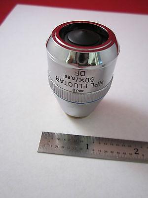 Leica Leitz Optical Microscope Part Objective Fluotar 50x Df Optics Binergolux