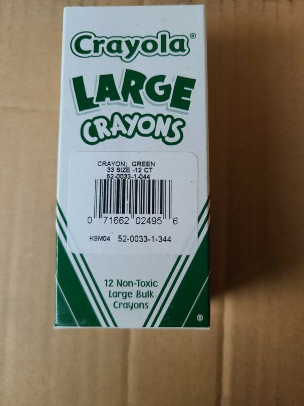 Crayola Large Crayon Refills - Green  - Green