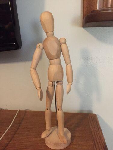 "IKEA Gestalta 21576 Wood Mannequin Artist Sketch Figure Model Poseable 13"" Tall"