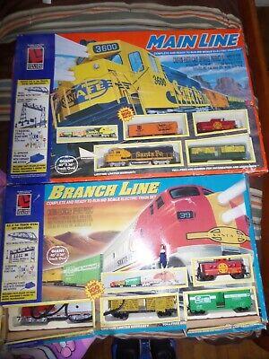 LIFE LIKE TRAINS SANTA FE TRAIN SETS Lot of (2) MAIN LINE & BRANCH LINE