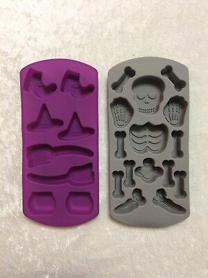 Silicone Halloween Witch Hat Skeleton Baking Soap Chocolate Mold - Halloween Witch Hat