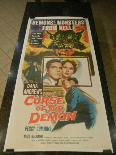 "CURSE OF THE DEMON Original 1957 Movie Poster, 41.25""x78.50"", C8.5 VF/Near Mint"