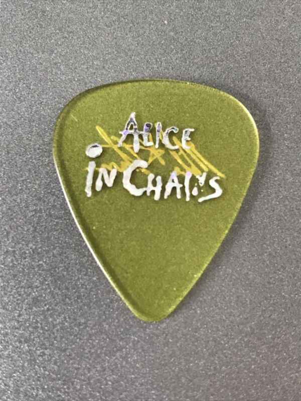 Alice In Chains Mike Starr Silver On Yellow Rare Tour Guitar Pick