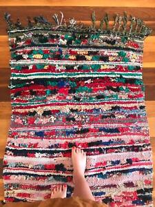 Vintage Moroccan shaggy rug
