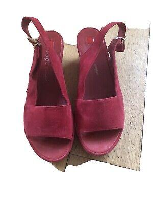 Hogl Seaside Red Sandals Size 6.5