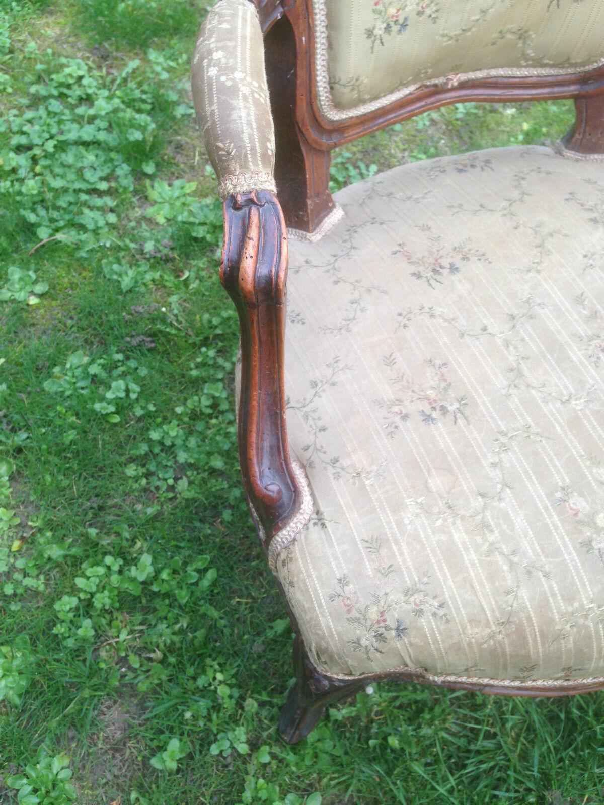 fauteuil cabriolet ancien 18 me eur 250 00 picclick fr. Black Bedroom Furniture Sets. Home Design Ideas