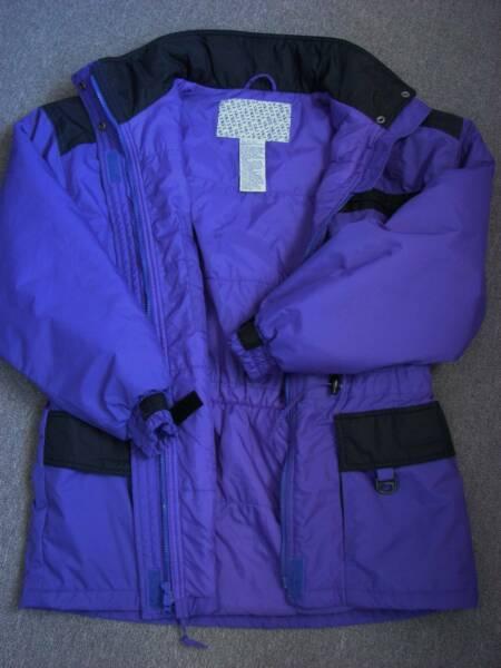 Jacket Parker Windbreaker Ladies Purple & Black sz L