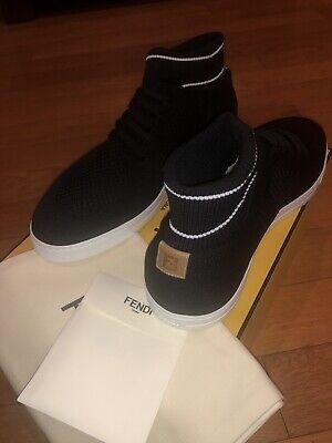 NEW FENDI Men's Tech Knit Sock Sneakers Shoes Black Size 10UK/11US