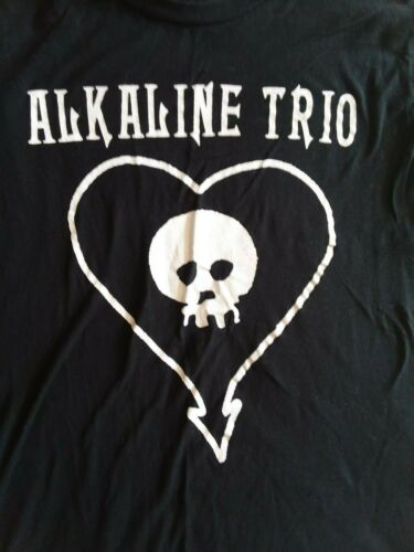 ALKALINE TRIO Skull inside Heart Black T Shirt Size M