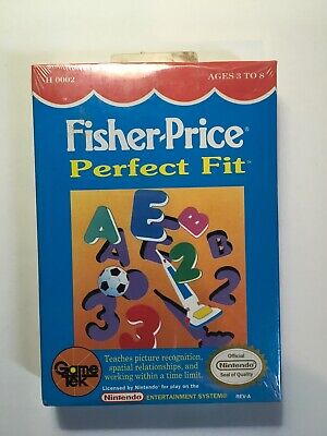 Fisher Price Perfect Fit Nintendo NES Video Game Cart #A3C Sealed W/Tab