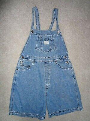 Kids Levi's Bib Overall Shortalls Blue Denim Jeans Shorts Children's size XL