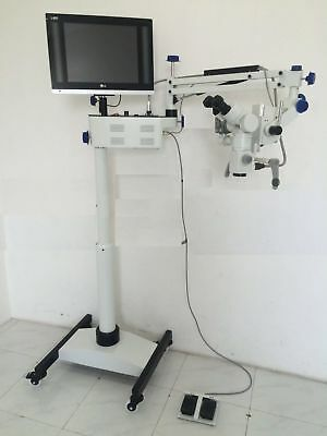 Dental Surgical Microscope 5 Step Magnification With Hd Camerabeam Spilter Led