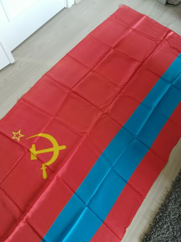 Original Vintage Flag of Kazahstan Kazahztanian Soviet Socialist Republic USSR