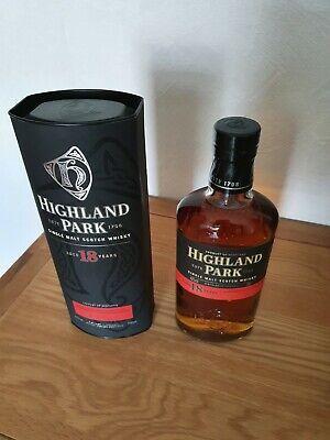 Highland Park 18 Jahre Single Malt Scotch Whisky alte Abfüllung