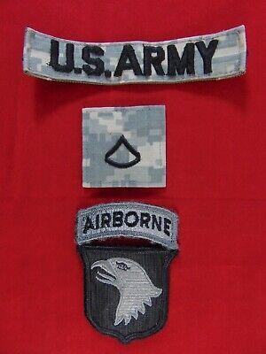 U.S. Army 101st Airborne PFC ACU Hook & Loop Insignia Patch Lot