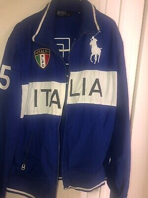 Vintage Polo Ralph Lauren Italy Track Jacket Ski 92 Polo Bear P Wing 2010