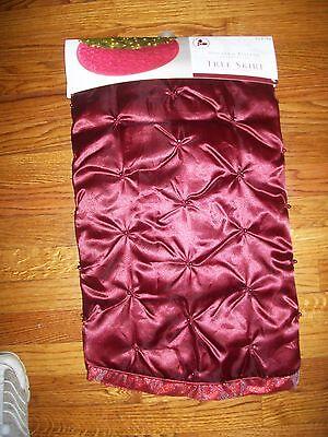 """Donner & Blitzen Tree Skirt 48"""" Burgandy"""