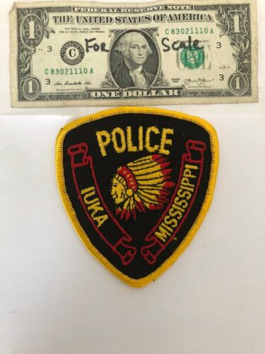 Very Rare Iuka Mississippi Police Patch Un-sewn great condition