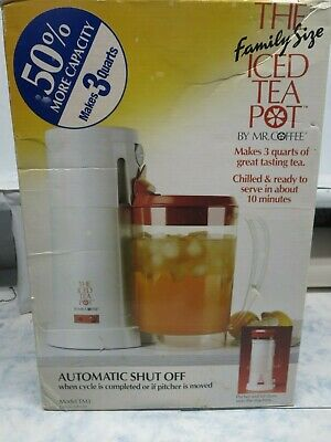 New Mr Coffee TM3 10 Minute Iced Tea Maker w/ 3 Quart Pitche