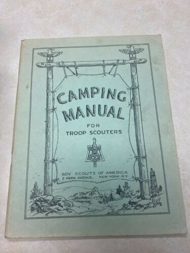 1946 Boy Scout Camping Manual for Troop Scouters