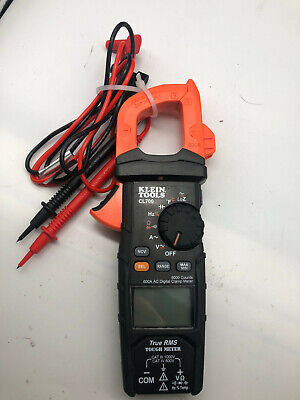Klein Tools Cl700 600a Ac Auto-ranging Digital Clamp Meter With Leads Nice