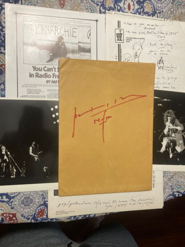 Patti Smith Signed Fan Club Lot Radio Ethiopia Autograph 1977