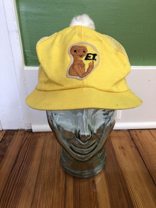 Vintage ET The Extraterrestrial Mesh  Pom Hat Universal Studios 1982