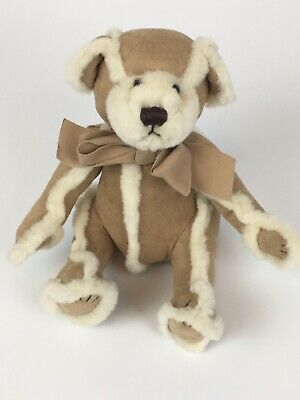 Gingerbread Teddy - Gingerbread Suede Teddy Bear Stuffed Plush Bath & Body Works Faux Fur