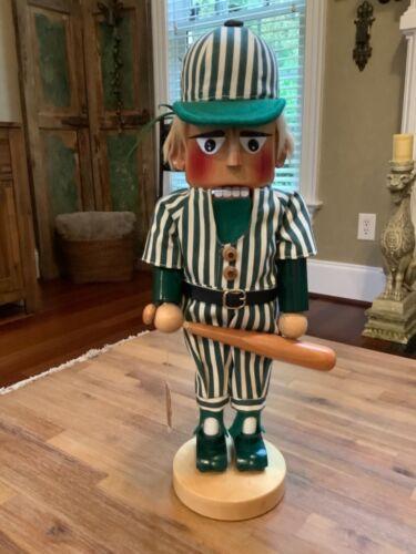 Steinbach Nutcracker ~ 16 Inch Baseball Player ~ Handmade in Germany ~ w/ Tag