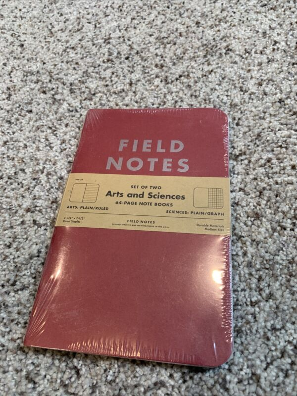 Field Notes arts and sciences (summer 2014)