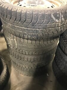 235/55/17 used Michelin xice winter tires and rims