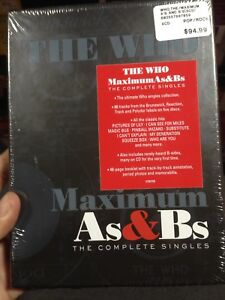 The Who - Maximum As & Bs Tue Complete Singles box set NEW