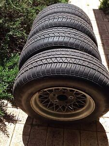 Hotwire mag wheels and tyres with nuts 13 inch for Holden Stoneville Mundaring Area Preview