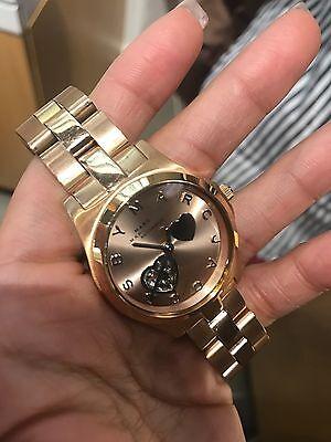 Marc Jacobs MBM9713 Women's Henry Rose Gold Automatic Heart Dial Bracelet Watch
