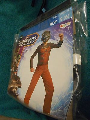 Marvel Rocket Raccoon Halloween Costume - Size Boy Small 6  -  NEW in Pkg