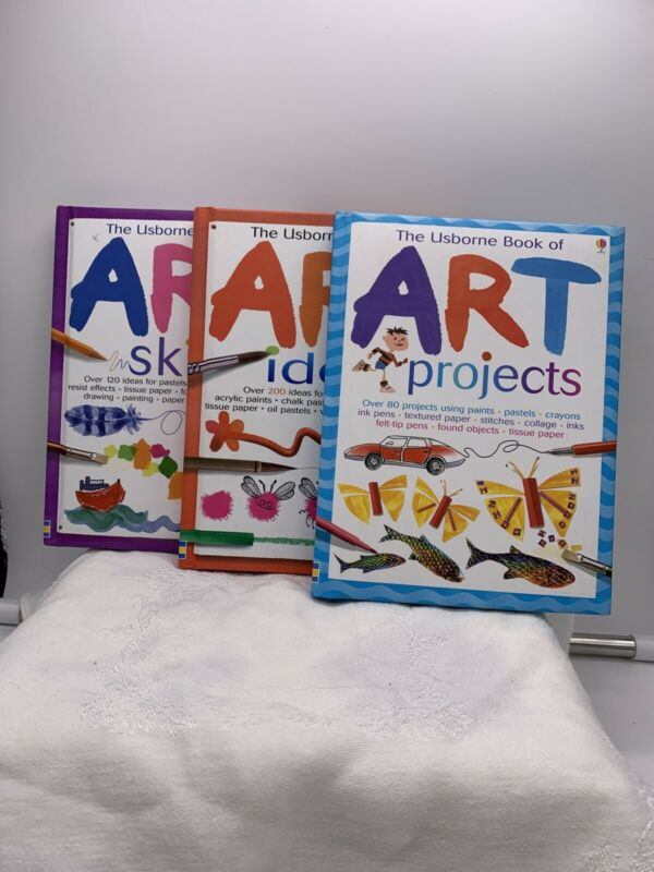 The Usborne Book Of Art Lot Of 3 Projects, Skills, And Ideas