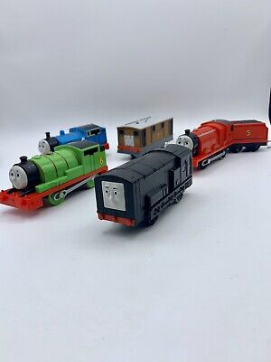 Trackmaster Motorized Trains Lot Diesel Percy James Toby Thomas