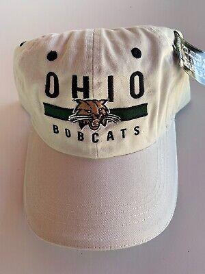 Ohio Bobcats Ball Cap Beige NCAA Cotton Blend Snapback One Size New (Ohio Cotton Cap)