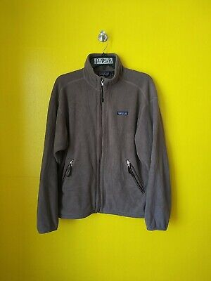 PATAGONIA SYNCHILLA FLEECE BROWN FULL ZIP UP SWEATER MENS-M