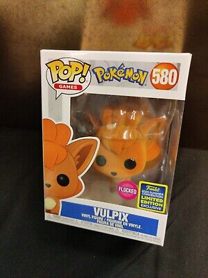 FUNKO Pokemon VULPIX Flocked SDCC 2020 SHARED Exclusive IN-HAND w/PROTECTOR MINT